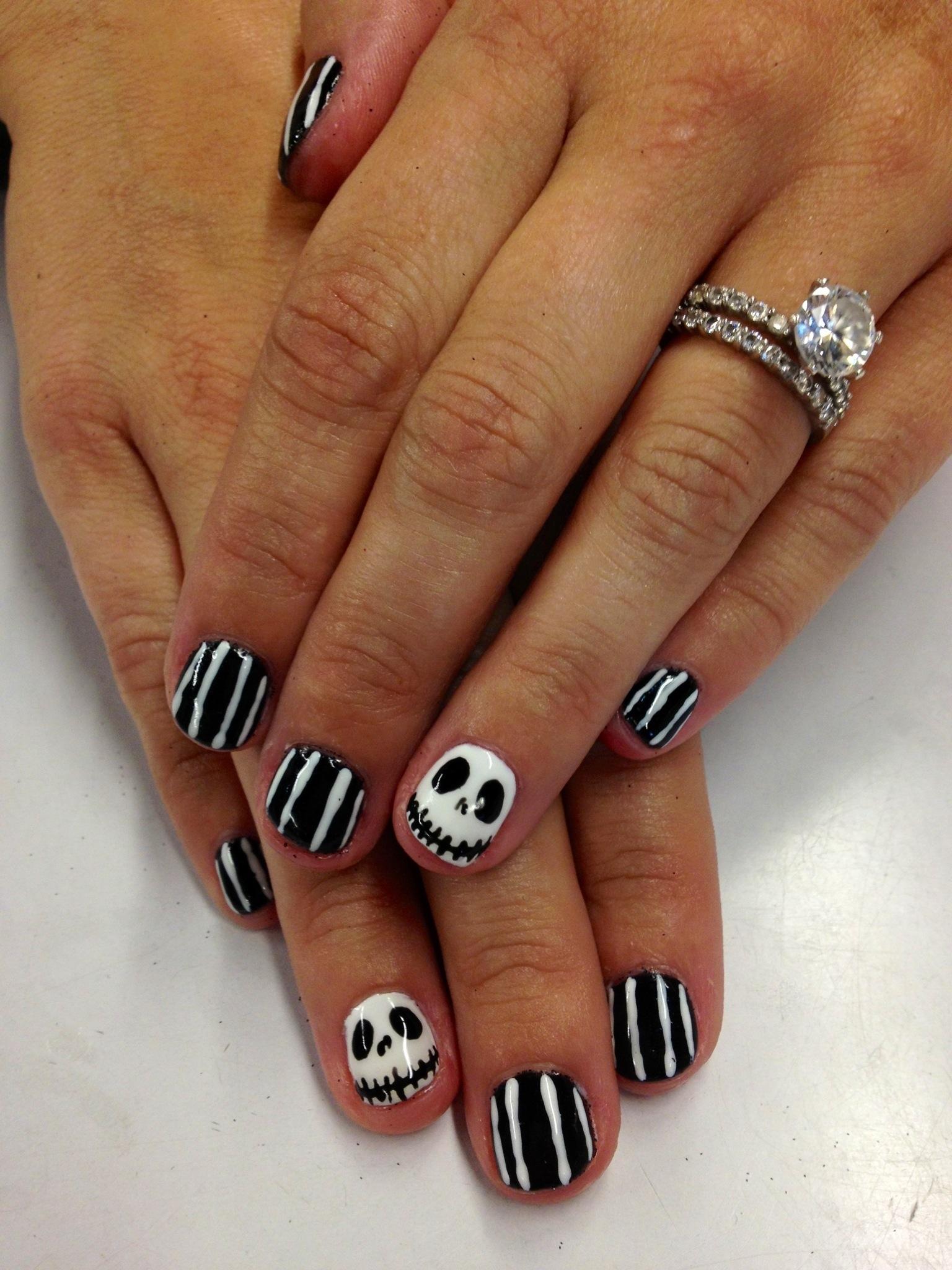 Jack skelington nail art | Home Sweet Nails
